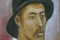 2008 portret-met-hoed