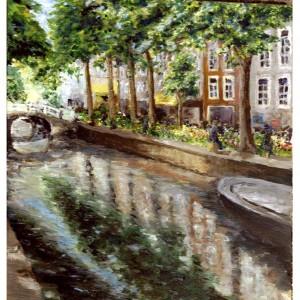 2000 Bloemenmarkt Delft acryl