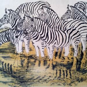 2014 Zebra spiegeling plankje